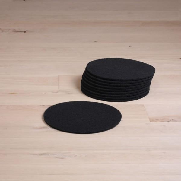 Reinigungspads, 13 Zoll, normale Ausführung, schwarz, 10 Stück