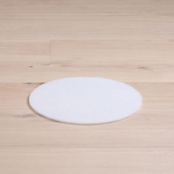 Polierpads, 13 Zoll, normale Ausführung, weiß, 1 Stück