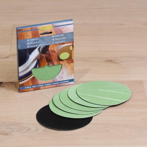 Patina Disc hellgrün, für Massierpads, erspart Nachpolitur, 6 Stück
