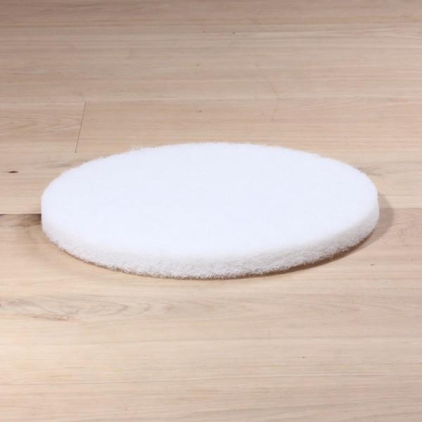 Polierpads, 13 Zoll, extra dicke Ausführung, weiß, 5 Stück